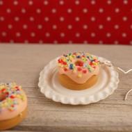 Meruňkové donuty s barevným posypem