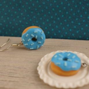 Modré donuty