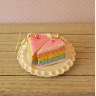 Duhové růžově třpytivé dortíky