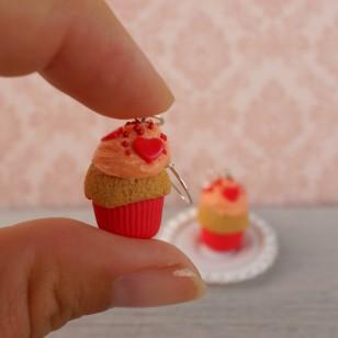 Červené muffiny se srdíčky