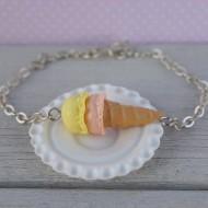 Náramek - oranžovo-žlutá zmrzlina