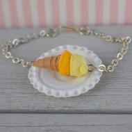 Náramek - citronová zmrzlina