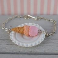 Náramek - růžovo-oranžová zmrzlina