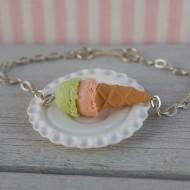 Náramek - oranžovo-zelená zmrzlina