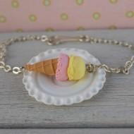 Náramek - žluto-růžová zmrzlina