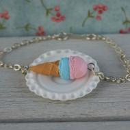 Náramek - růžovo-modrá zmrzlina