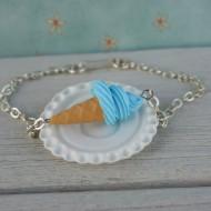 Náramek - modrá zmrzlina