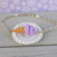 Náramek - fialová zmrzlina
