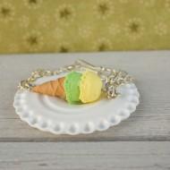 Náramek - zeleno-žlutá zmrzlina
